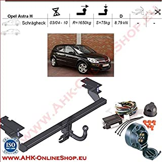 13polig AHK neu Opel Astra H Fliessheck 2004-2009 BOSAL Anhängerkupplung starr