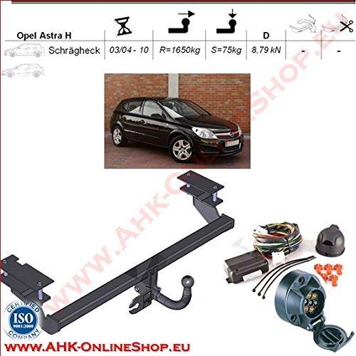 AHK Anhängerkupplung mit Elektrosatz 7 polig für Opel Astra III H 2004 -2009 Schrägheck Anhängevorrichtung Hängevorrichtung - starr, mit angeschraubtem Kugelkopf