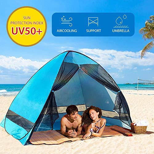 aheadad Outdoor Automatic Pop Up Beach Tent UPF 50+ for UV Sun Protection, Lightweight Portable Waterproof Easy Set Up Beach Sun Shelters Tent for Family Camping, Beach, Garden,Fishing, Picnic