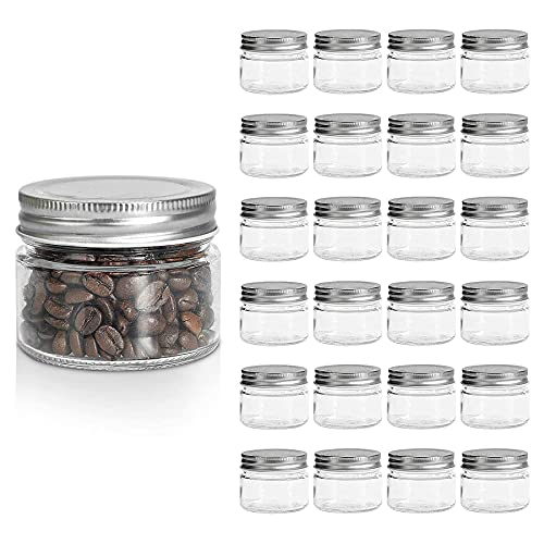 ComSaf 150ml Tarros de Cristal con Tapas, 24 Piezas Botes Cocina Pequeños,...