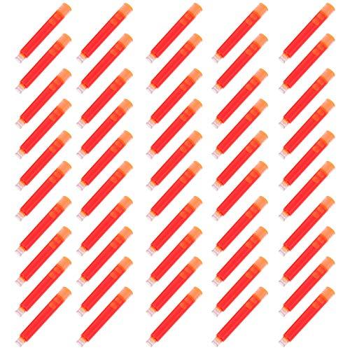 NUOBESTY 50 Cartuchos de Tinta para Pluma Estilográfica de Recarga de Cartuchos de Tinta Naranja