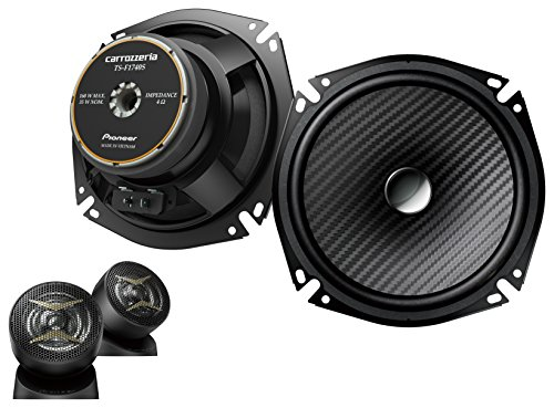 Carrozzeria (Pioneer) 6.7-inch (17-cm) Separate 2-Way Speakers w/ High Resolution Support TS-F1740S