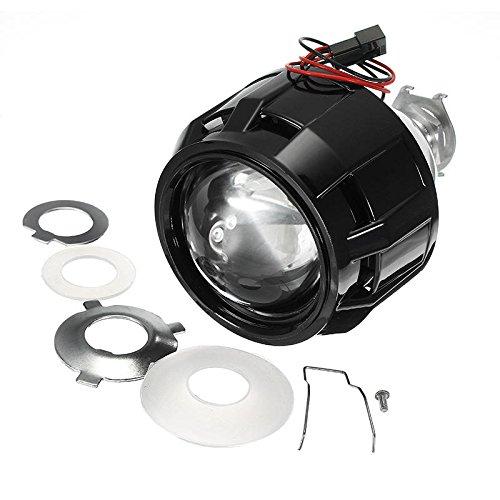 Luces de motocicleta de 2.5 pulgadas de motor de coche Bi-xenon HID proyector ángulo ojo halo lente faro delantero H1 H4 H7 (color : RHD)