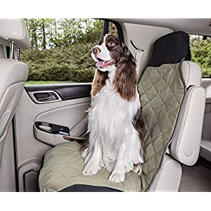 PetSafe Happy Ride Quilted Bucket Seat Cover for Dogs and Pets – Fits Cars, Trucks, Minivans and SUVs – Padded Cotton Fabric – Durable Vehicle Seat Protector – Green