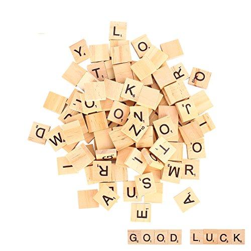 moinkerin 100 Stücke Buchstaben Holzbuchstaben Buchstaben Holz Puzzle Alphabet A bis Z, für Kinder Lernen