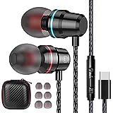 Losvick Écouteurs USB Type C Intra-Auriculaires, Écouteurs Filaire [Anti-Bruit Casque] Audio avec...