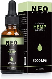 NeoHemp Hemp Oil Drops 30ml | 100% Pure Natural Ingredients Co2 Extracted | Anti-inflammatory | Help Reduce Stress, Anxiety and Pain | Vegan & Vegetarian Friendly (5000MG)