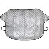 CampTeck U6911 - Protector Parabrisas Antihielo Parabrisas Parasol Parabrisas Coche Invierno Verano Universal (145x119cm) - Plata