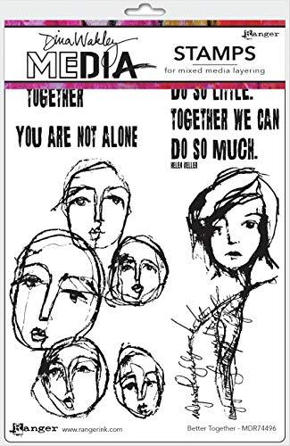 Dina Wakley Media DINA WAKLEY Cling ST TOG, Better Together