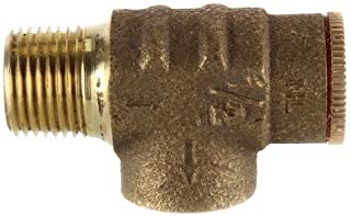 "American Granby 1/2"" x 75 PSI Pressure Relief Valve for Water Well Pump Pressure Tank Brass NO Lead"