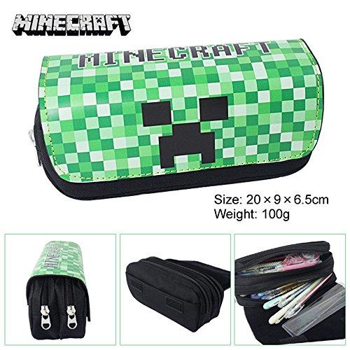 Cut Canvas Pencil Pen Bag Case Box Cosmetic Pouch Pocket Brush Holder Makeup Bags, Green
