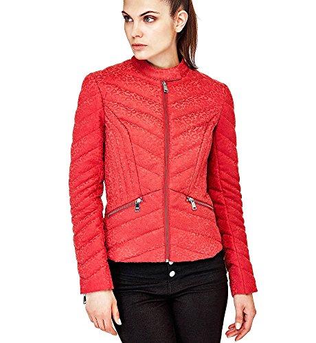 Guess Felicia - Abrigo para mujer, color rojo rojo medium