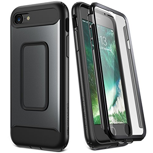 YOUMAKER Compatible with iPhone SE 2020 Case, iPhone 8/7 Case, Full Body with Built-in Screen Protector Heavy Duty Protection Shockproof Slim Fit Cover for iPhone SE (2020), iPhone 8, iPhone 7-Black