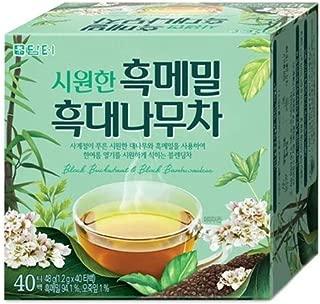 DAMTUH Premium Korean Traditional Black Buckwheat & Black Bambusoideae Tea, 40 Tea Bags