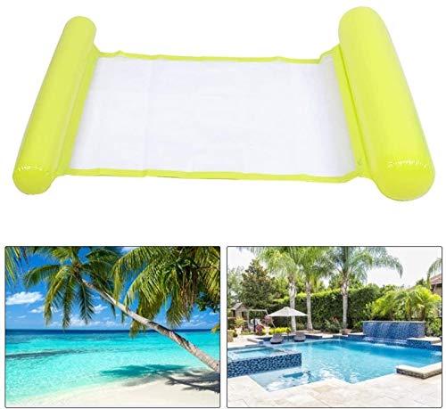 FLYAND Sillón de Agua Flotante Sillón Piscina Flotador Inflable Bolsa Plegable (Sky Blue) (Color : Yellow)