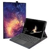 Fintie Hülle für Microsoft Surface Go - [Multi-Sichtwinkel] Hochwertige Kunstleder Schutzhülle Tasche Etui Cover Hülle mit Stylus-Halterung für Surface Go (10 Zoll) 2018 Tablet-PC, Die Galaxie
