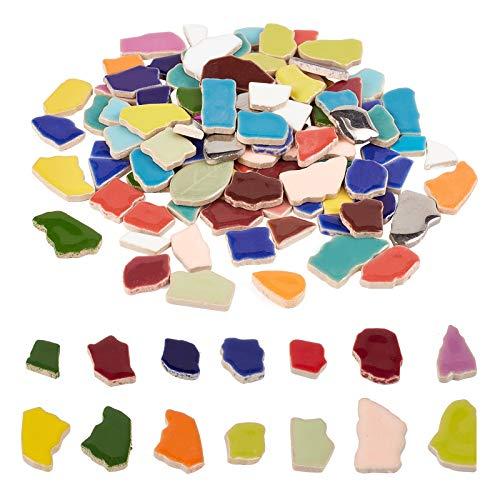 PandaHall Azulejos de mosaico de cerámica piezas de mosaico suministros para decoración del hogar jardín DIY Artes y manualidades, 0.2 kg