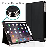 iPad Air 2 9.7' Case, [Corner Protection] CaseCrown Bold Standby Pro (Black) with Sleep/Wake & Multi-Angle Viewing Stand