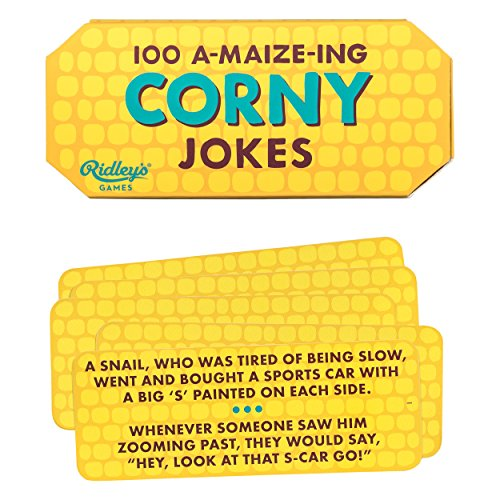 Ridley's 100 A-maize-ing Corny Joke Cards – Includes 100 Jokes for Kids and Adults, Funny Jokes for Family-Friendly Fun – Makes a Great Gift Idea