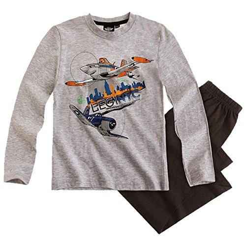 Disney Planes Pyjama/Schlafanzug Graumelange - schwarz - 116