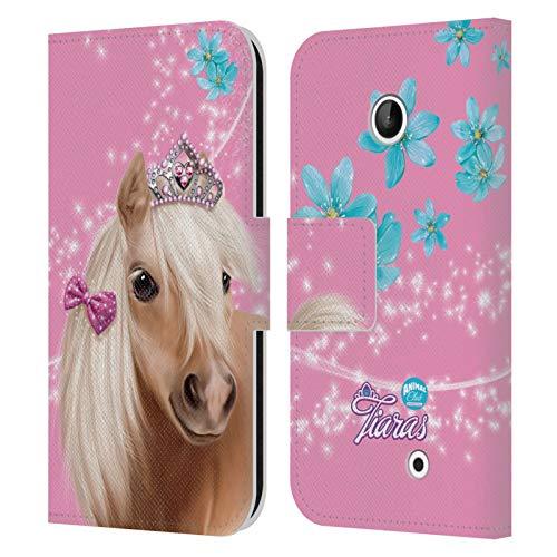 Head Case Designs Ufficiale Animal Club International Cavallo Facce Reali Cover in Pelle a Portafoglio Compatibile con Nokia Lumia 630