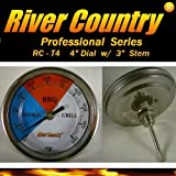 River Country 4' dial Adjustable BBQ, Grill, Smoker Thermometer (50 to 550 F)