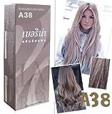 Berina Permanent Hair Dye Color Cream (A38 Light ash blonde) by Berina
