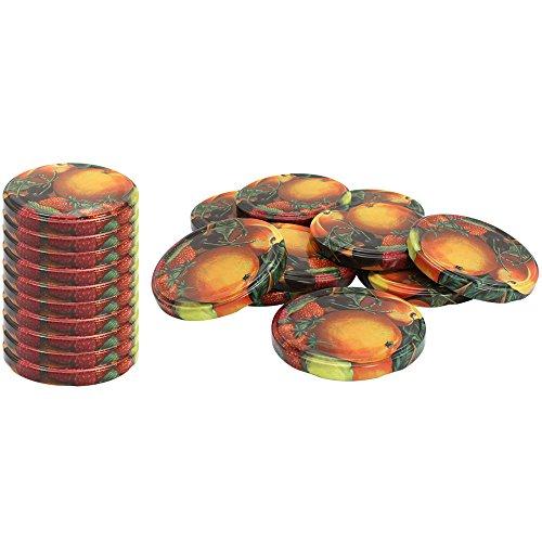 com-four® 20x Couvercles de rechange pour pots à confiture\