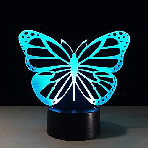 Lámpara De Ilusión 3D, Luz Nocturna Led, Lámpara De Mesa De Mariposa Óptica, 7 Colores Que Cambian, Lámpara De Escritorio Usb Tabel Para Niños, Sueño, Dormitorio, Estado De Ánimo