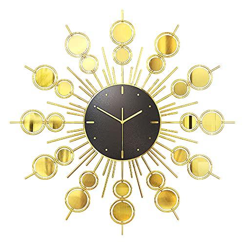 FHTD Reloj de Pared Esqueleto de Metal Grande de 70Cm con n�