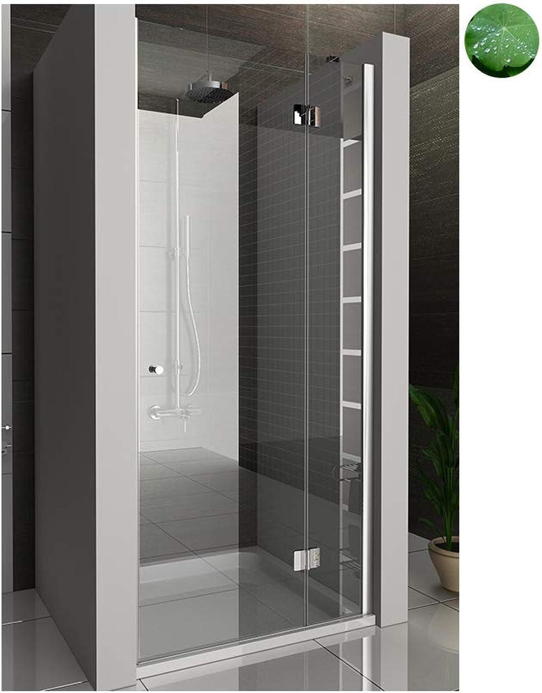 Duschwand Duschabtrennung mit Glasverotelung Nischentür Dusche Wannenma 90 cm 6 mm EasyClean Glas