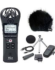 Zoom H1n BK - Grabadora de teléfono móvil (incluye accesorios APH1n y protector contra el viento de piel Keepdrum)