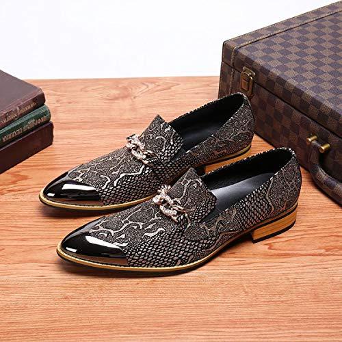 Wensa Mens Cowboystiefel, Lässige Lederschuhe, Chelsea Ankle Boots aus Leder Geschäfts-Kleid-Abend-Schuhe Schwarz Reitspitzschuh Booties,41