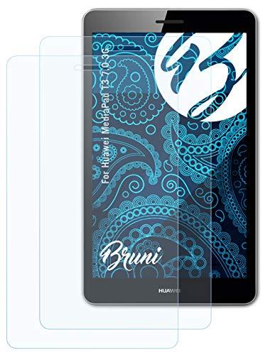 Bruni Schutzfolie kompatibel mit Huawei MediaPad T3 7.0 3G Folie, glasklare Bildschirmschutzfolie (2X)