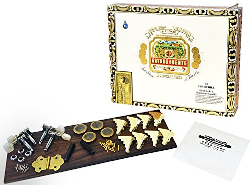 4-string Cigar Box Guitar Kit with Detailed Assembly Instructions