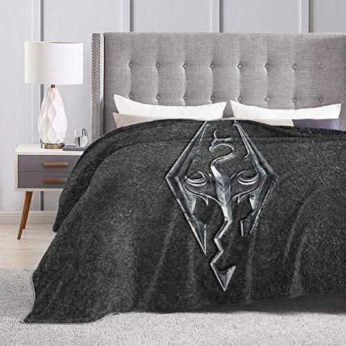 Cupaate Skyrim Logo – Eisen-geprägtes Granit Ultraweiche Micro-Fleece-Decke Couch 127 cm x 40