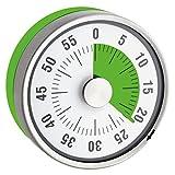 TimeTex Zeitdauer-Uhr'Automatik' Compact - grüne Scheibe - mit Magnet - zeigt Restzeit an - Durchmesser 78 mm - läuft ohne Batterien - 61972