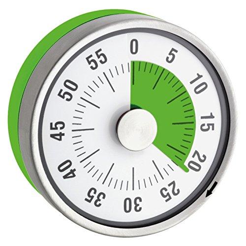 """TimeTex Zeitdauer-Uhr\""""Automatik\"""" Compact - grüne Scheibe - mit Magnet - zeigt Restzeit an - Durchmesser 78 mm - läuft ohne Batterien - 61972"""