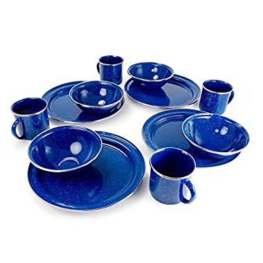 GSI Outdoors Pioneer Enamelware Table Set, 4 person
