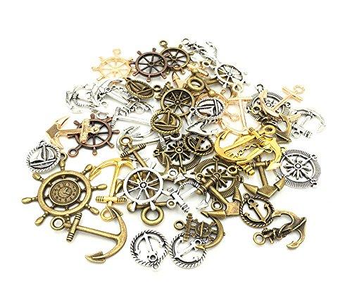 Antik Silber Tibetanische Anker Schmuckzubehör Basteln Charms Anhänger Für Halskette Armband 100g