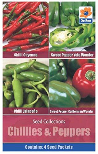 De Ree Seeds - Chilli Peppers et 4 - Variétés - Légumes