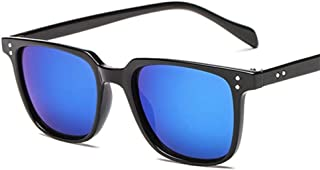 Fashion Men Retro Vintage Driving Sun Glasses for Men Sunglass Shades UV400 Square Sunglasses Retro (Color : Blue)