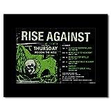 RISE AGAINST - UK Tour 2009 Matted Mini Poster - 21x13.5cm