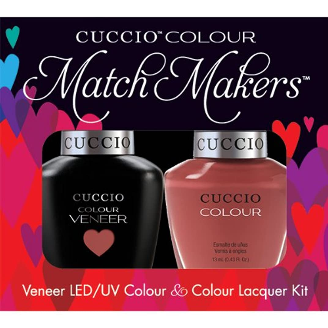 ビンぴったりしないでくださいCuccio MatchMakers Veneer & Lacquer - Boston Cream Pie - 0.43oz / 13ml Each