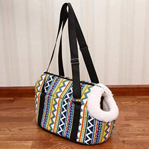 Haustier-Fördermaschinen-Hunderucksack-weiche gemütliche Welpen-Katzen-Hundetaschen, die Reise-Haustier-Beutel-Chihuahua-Schulter-Fördermaschinen-Beutel-Haustier-Produkt-bunte Kräuselung S wandern