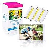 Compatibile Carta Fotografica KP-108IN per Canon Selphy CP1300 CP1200 CP1000 CP780 CP790 CP800 Stampante Selphy,108 Fogli Carta Fotografica(100 x 148mm),3 Cartucce d'inchiostro Colore,3115B001(AA)