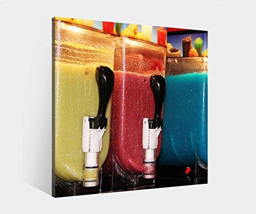 Leinwand 1 Tlg bis 100cm, Eismaschinen farbig metro, Leinwandbild Bilder 9L385 Kunstdruck Holz - fertig gerahmt - direkt vom Hersteller, BxH Bild:100cmx100cm