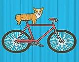 LKAZLL Kit de pintura al óleo para niños adultos y niños, decoración de pared para el hogar, regalos de color perro y bicicleta de 40 x 50 cm