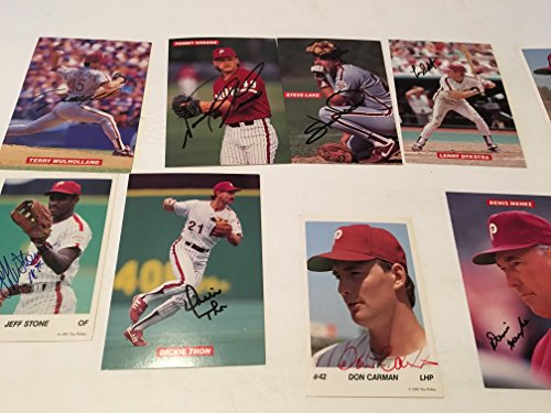 16 PHILADELPHIA PHILLIES AUTOGRAPHED BASEBALL PHOTOS 1970S AND 1980S