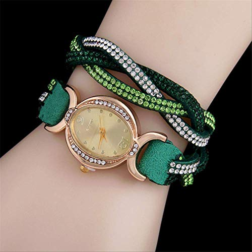 WLKVUOT Vrouwen Quartz Horloges Mode Diamanten Decor Horloges Casual Dames Quartz Horloge